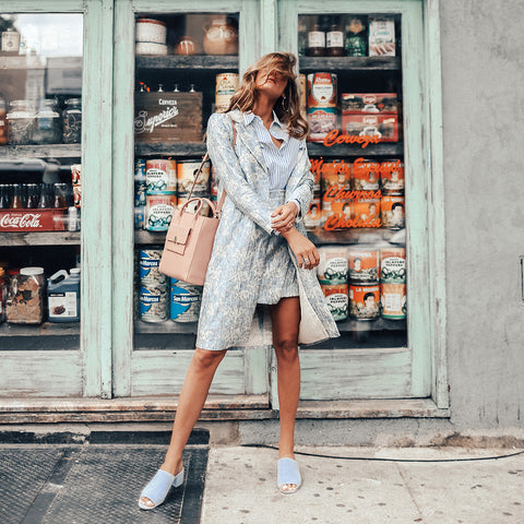 Tessa Barton of By Tessa with Small Kiosk Tote in Blush