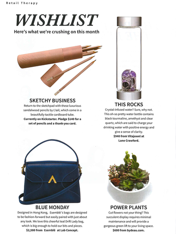 esemble press Liv Magazine 2018 October Issue AW18 Drift Lady Bag in Reef and Penny Mini Carryall in Taffy_102018