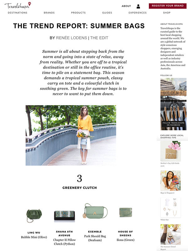 esemble press july 2017 bell shoulder bag in fog park shoulder bag in seafoam travelshopa