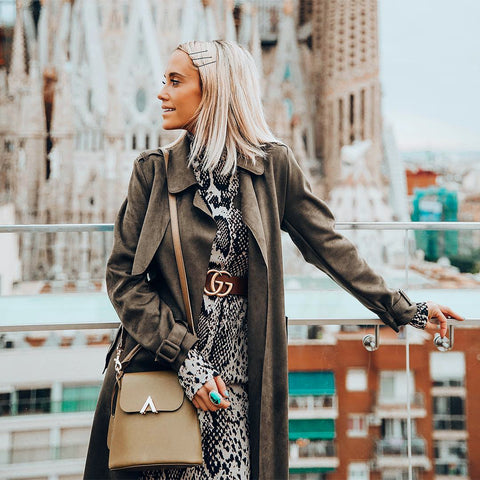 esemble seen on Megan Mitchell of Styled Avenue MegLegs AW18 Bell Shoulder Bag in Olive_11112018