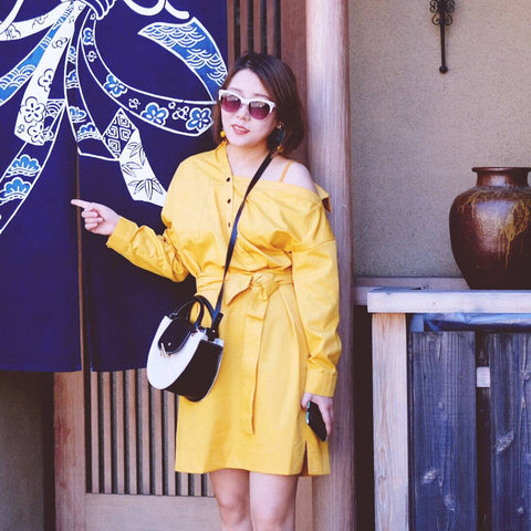 esemble seen on SS18 Demi Moon Bag in Canvas-Black_May08052018 妖精边儿
