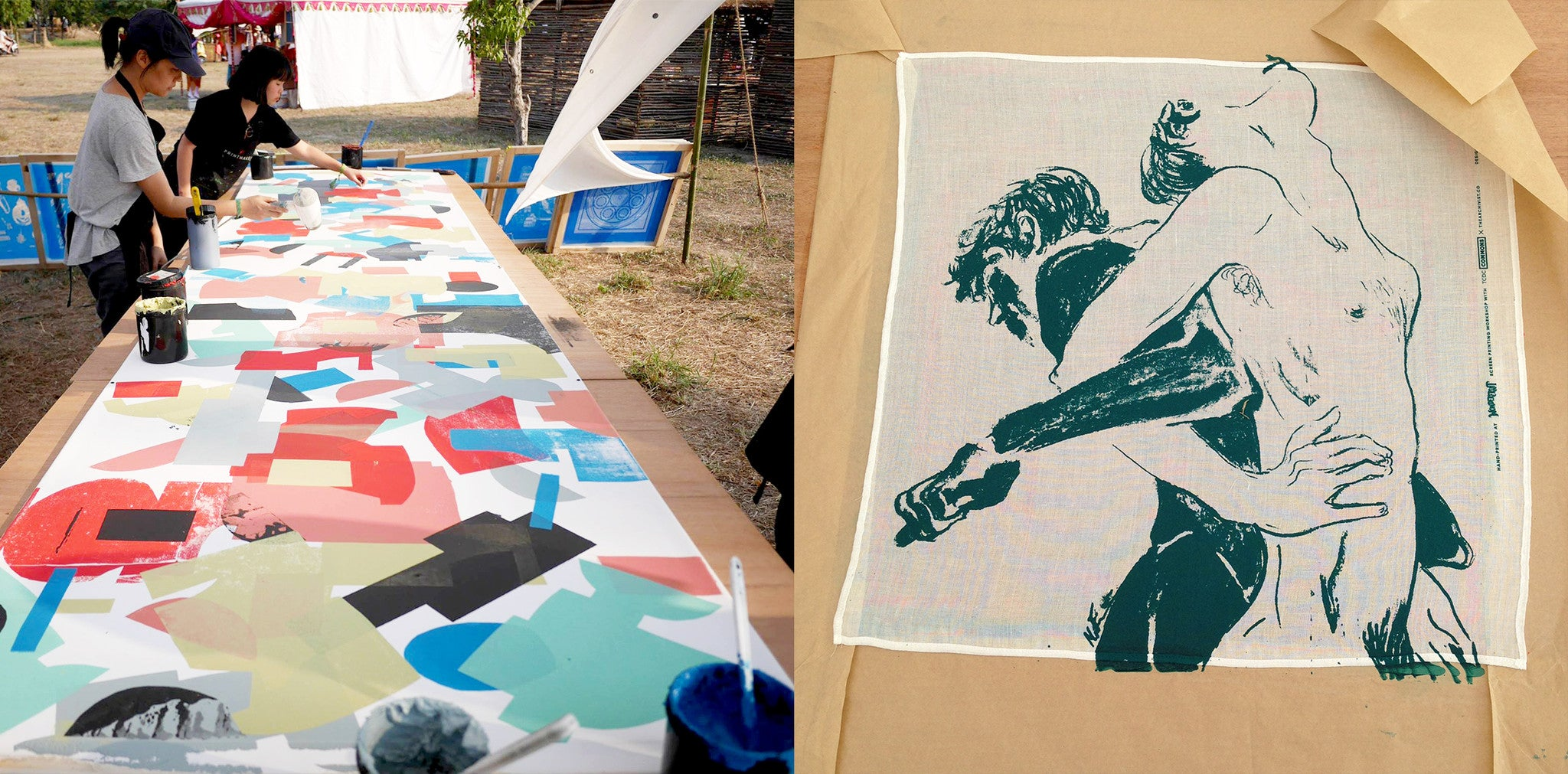 the archivist screen printing scarf making workshop wonderfruit festival
