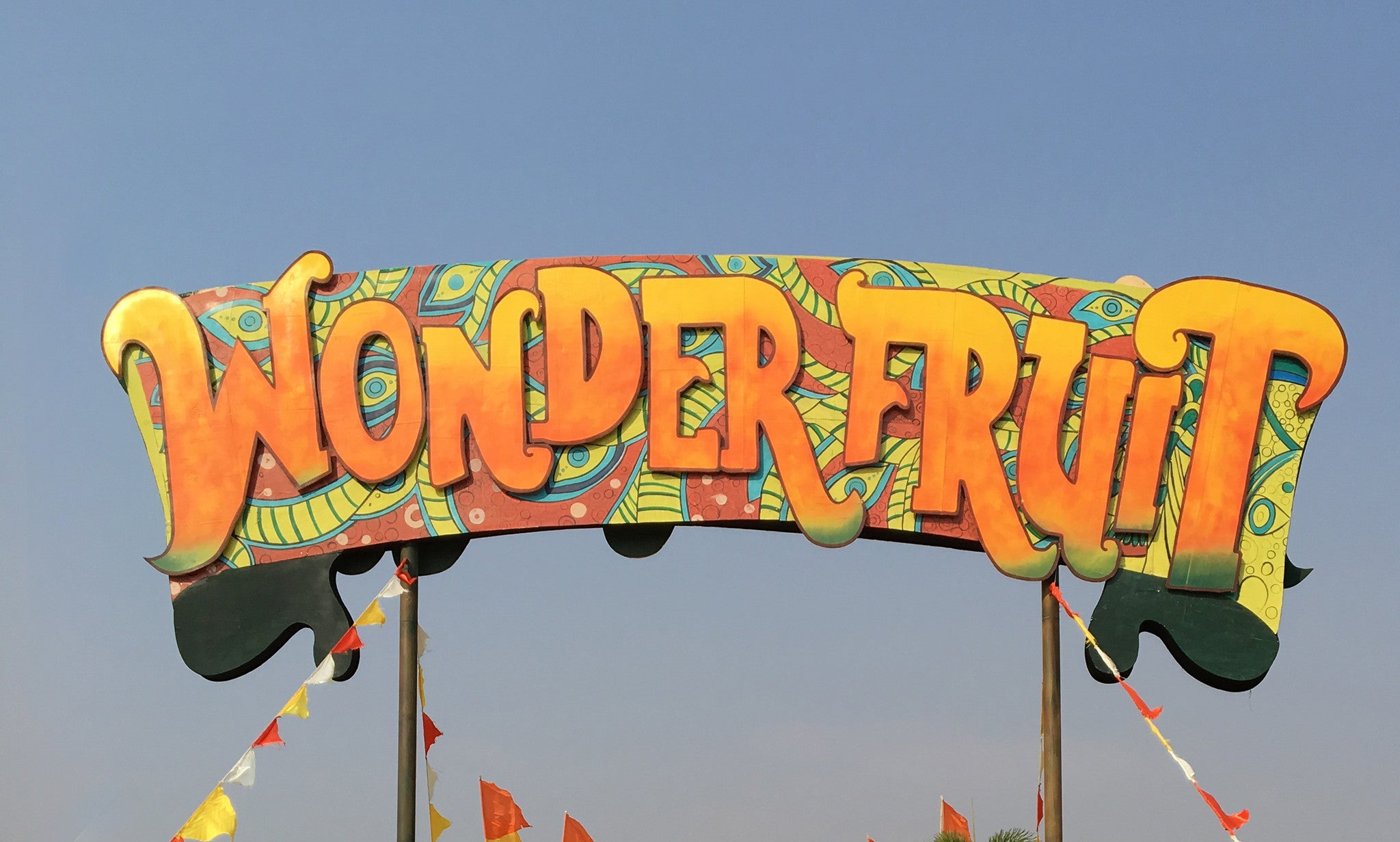 wonderfruit festival banner entrance
