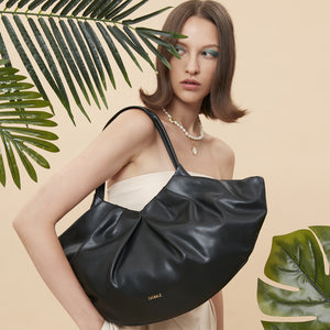 Big Lila Fan Tote - Black