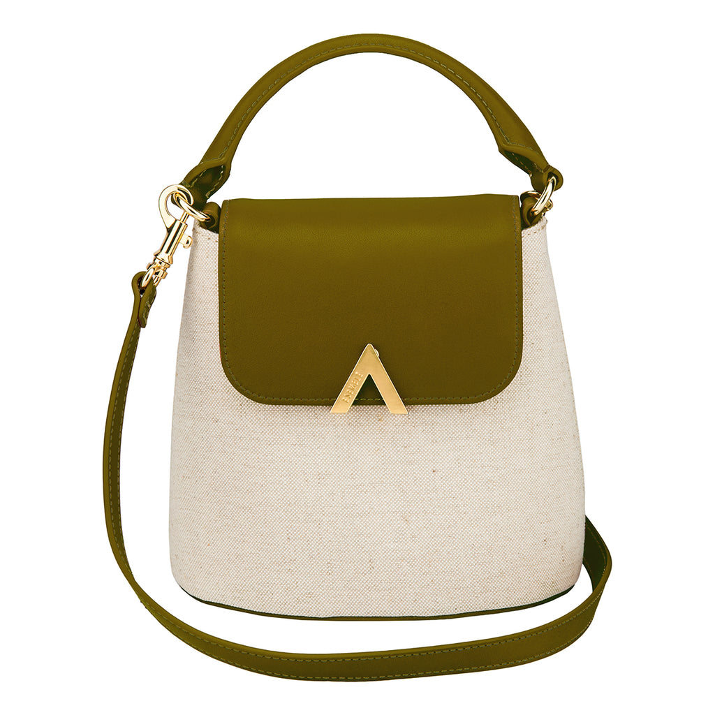 Bell Shoulder Bag - Canvas/Olive