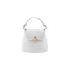 Mini Bell Shoulder Bag - White Croc Embossed