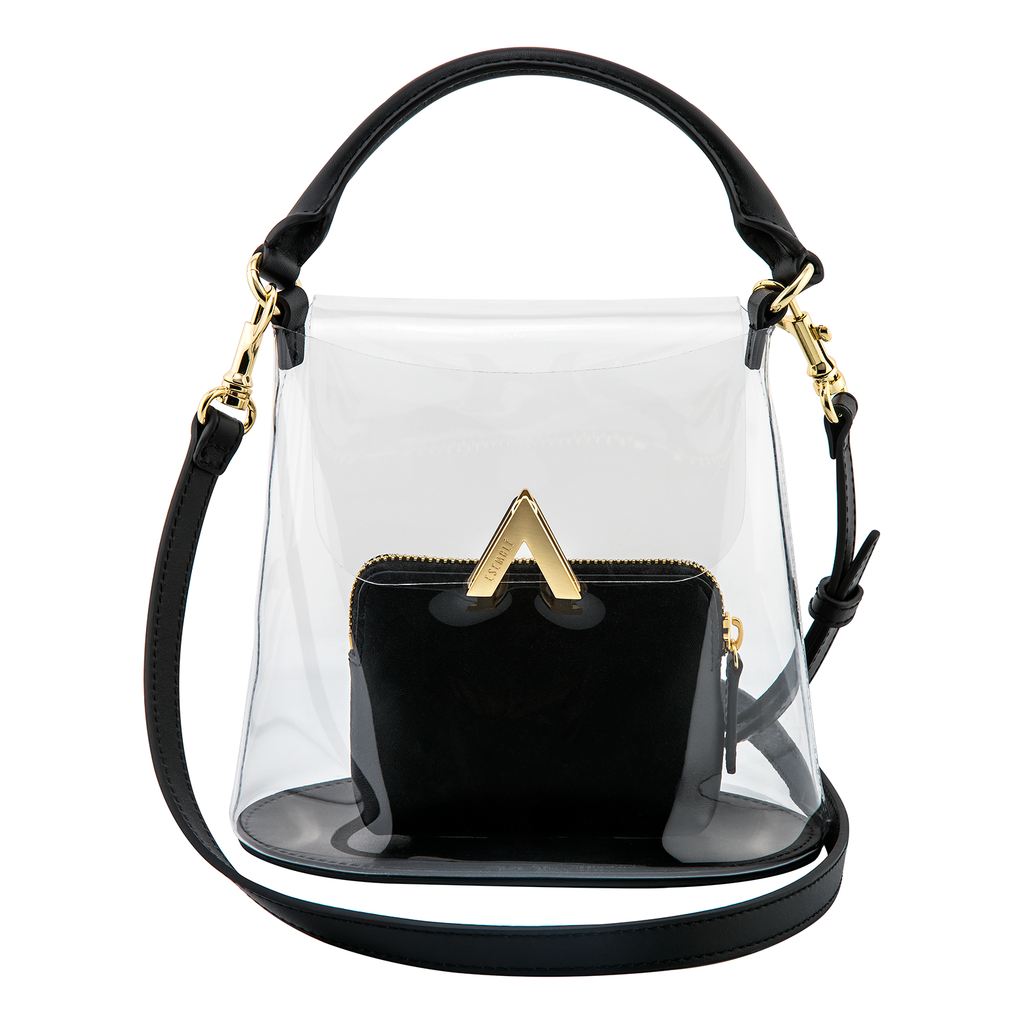 Bell Shoulder Bag - PVC/Black