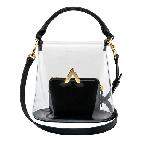 Bell Shoulder Bag - PVC/White