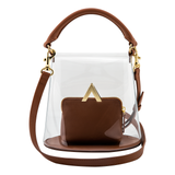 Bell Shoulder Bag - PVC/Brown