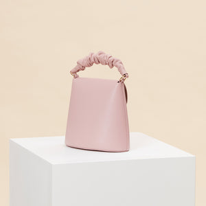 Scrunchy Handle Bell Shoulder Bag - Peony