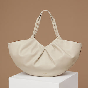 Big Lila Fan Tote - Caramel/Almond