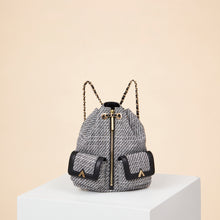 Load image into Gallery viewer, Billie Backpack - Black/White Tweed