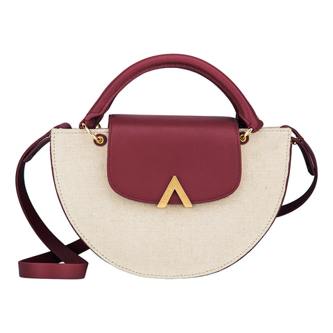 Bell Shoulder Bag - Canvas/Fuschia