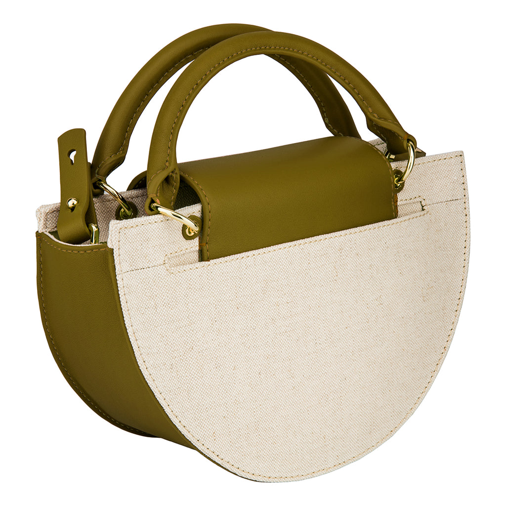 Demi Moon Bag - Canvas/Olive