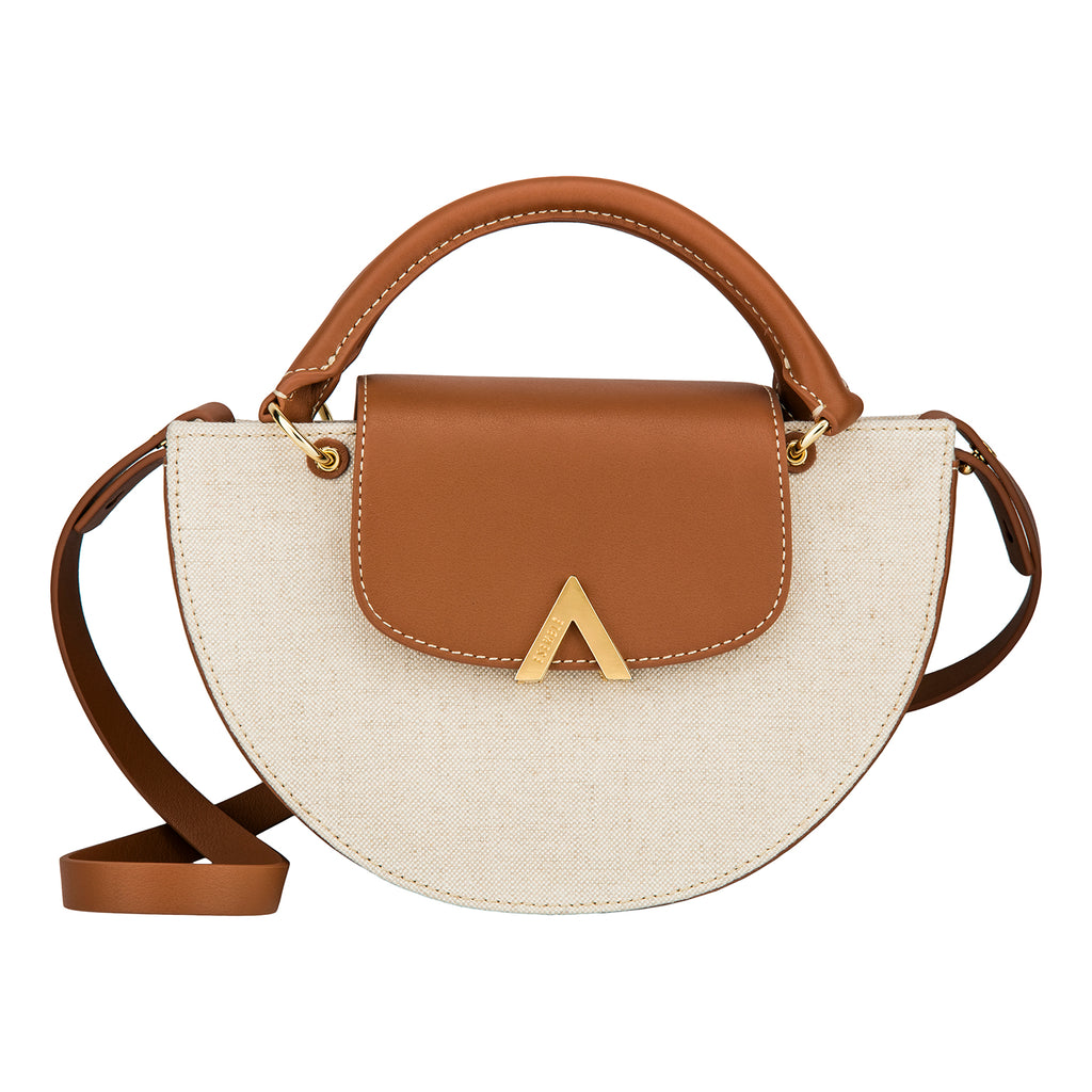 Demi Moon Bag - Canvas/Brown
