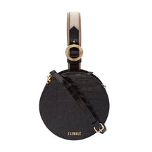 Load image into Gallery viewer, Kaia Circle Bag - Black/Chai Croc Embossed
