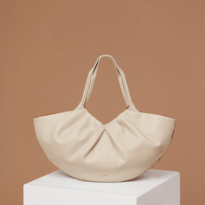 Medium Lila Fan Tote - Caramel/Almond