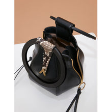 Load image into Gallery viewer, Pre-order - Lucia Bag - Black Python