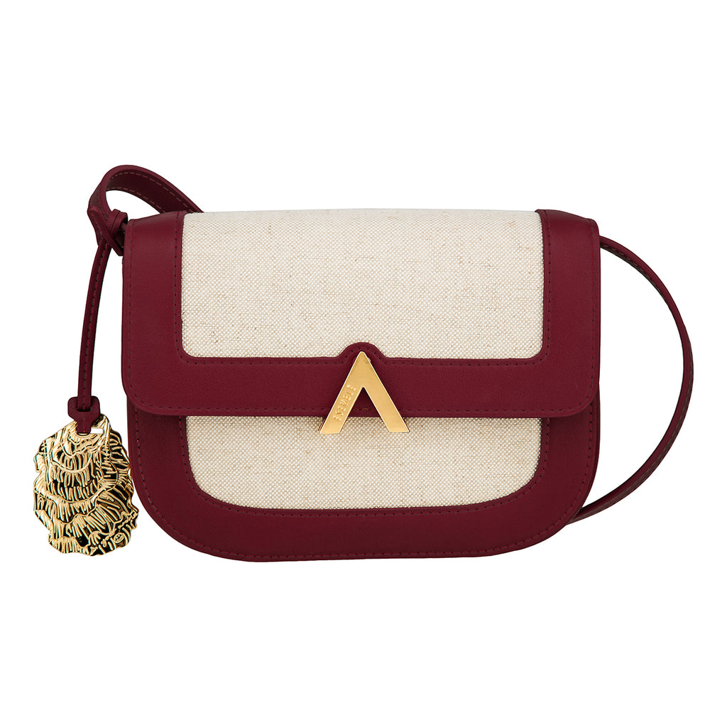 Park Shoulder Bag - Canvas/Burgundy