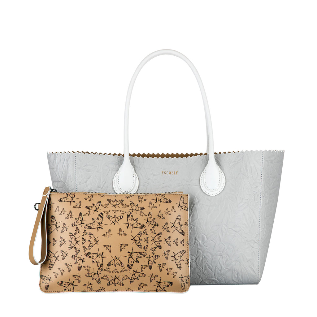 Tousled collection Ada35 Tote - Pulp - ESEMBLĒ - printed pouch