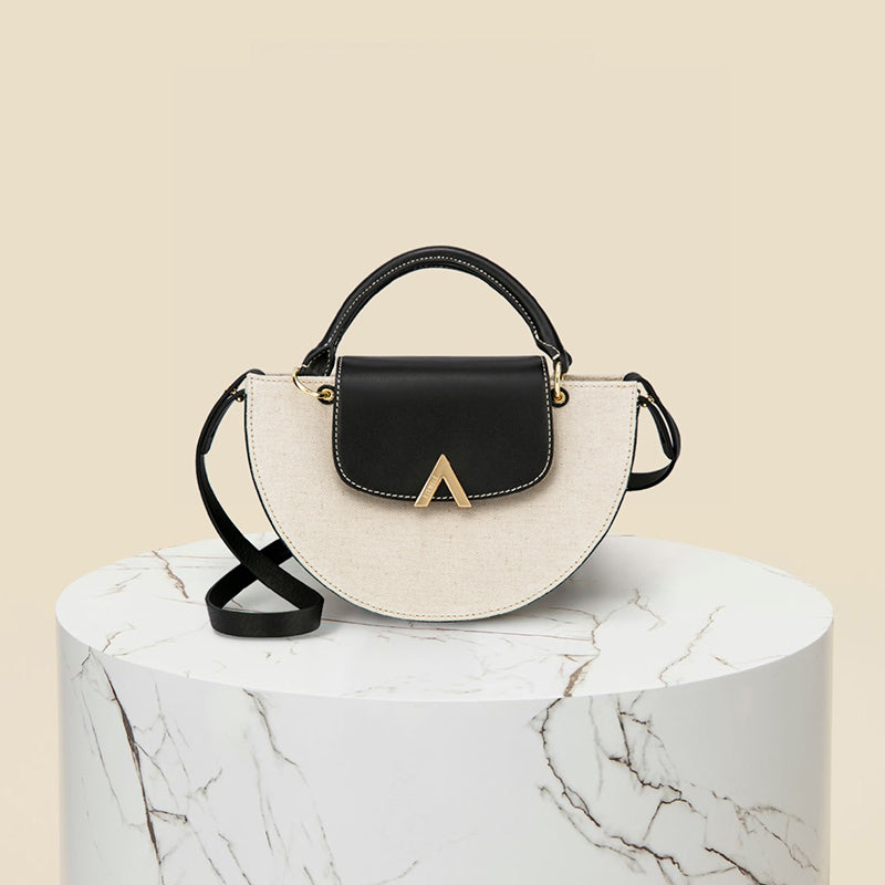 Demi Moon Bag - Canvas/Black
