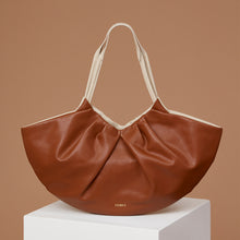 Load image into Gallery viewer, Big Lila Fan Tote - Caramel/Almond