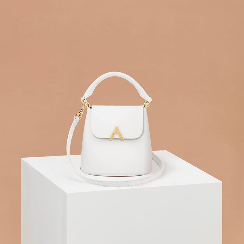 Mini Bell Shoulder Bag - Blanc