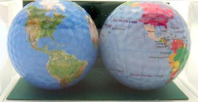 Perfect Golfer Gift Set of 2 Geography & World Map Globe Golf Ball Gift Pack