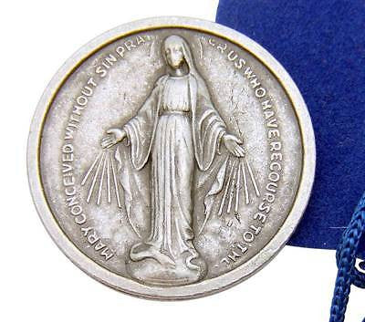 Our Lady Of Grace 1 Inch Prayer Coin Token Miraculous Medal w Bag Italy by MRT