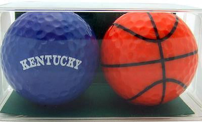 Perfect Golfer Gift Set of 2 Basketball Fan & Kentucky Golf Ball Gift Pack