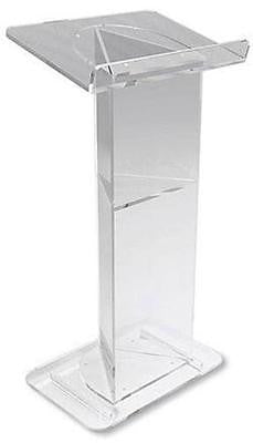 MRT V-Shaped Design Acrylic Modern Lectern w Shelf for Church Chapel Quality 46""