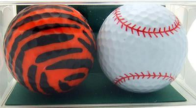 Perfect Golfer Gift Set of 2 Tiger Stripes & Baseball Golf Ball Gift Pack
