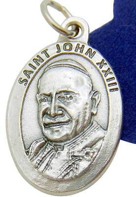 "NEW Saint Pope John XXIII Metal Pendant 7/8"" Medal w Gift Bag from Italy by MRT"
