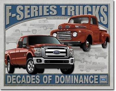 F Series Ford Pickup Trucks Retro Tin Sign Garage Wall Decor Trucker Gift 16""