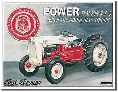 Retro Ford Motor Co Farming Tin Sign Home Wall Decor Farmers Farm Man Gift 16""