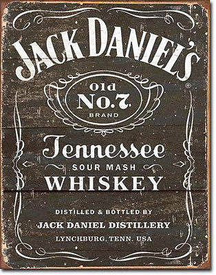Jack Daniels Whiskey Retro Large Tin Sign Wall Decor Man Cave Home Bar Gift USA