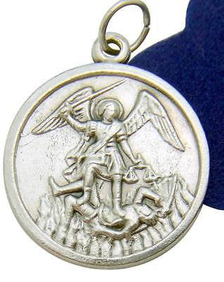 St Saint Michael Protection Medal Pendant 3/4 Inch Metal w Gift Bag Italy by MRT