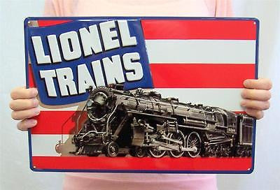 Lionel Trains Toy Model Locomotive Retro Tin Sign Old Style Room Wall Decor 15""