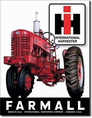 Farmall International Tractors Old Style Retro Tin Sign Farmers Farm Gift 16""