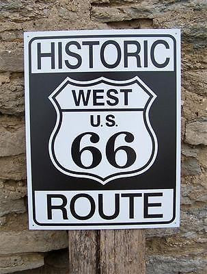 "Retro Street Sign Antique Style US Route 66 Bar Wall Decor Tin Sign Gift 16""x12"