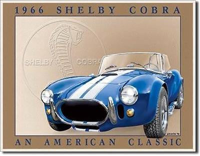 "Shelby Cobra American Classic Tin Sign Home Garage Wall Decor Auto Gift 16""x12"""