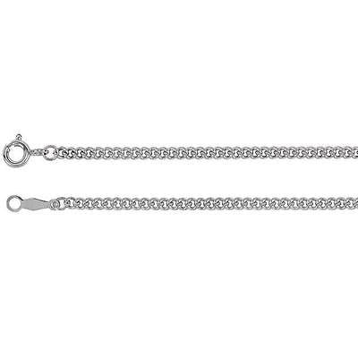 "MRT Solid .925 Sterling Silver 24"" Long Rope Chain Necklace Gift w Clasp"