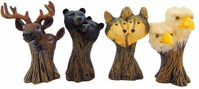"Wolves Bears Eagles & Deers Wildlife Mini Statues Home Decor 4.5"" Decor Gift"