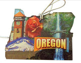 Oregon Christmas Ornament Acrylic State Shaped Decoration Boxed Gift Made in The USA