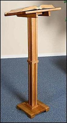 "MRT Solid Wood Lectern 43"" Church Chapel Quality Pulpit Stand Pecan Stain Finish"