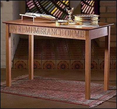 MRT Solid Maple Hardwood Altar Communion Ceremony Table Large Church Chapel 48""