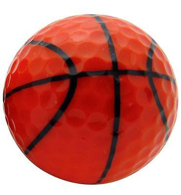 Basketball Design Novelty Golf Ball Perfect Fun Golfing Gag Gift for Golfer Dad