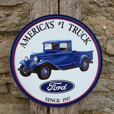 Antique Vintage Style Ford America #1 Truck Metal Sign Ad Retro Decor USA 11""