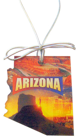Arizona Christmas Ornament Acrylic State Shaped Decoration Boxed Gift Made in The USA