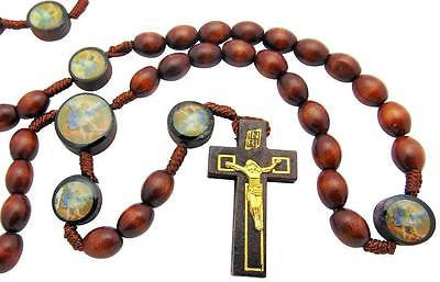 Bulk Set of 960 St Saint Michael Wood Bead with Cord Rosaries
